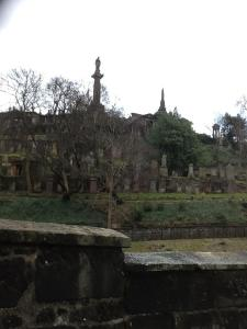 Cemetery behind St. Mungo Cathedral (Glasgow).