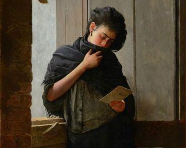 Detail: Longing, José Ferraz de Almeida Júnior, 1899