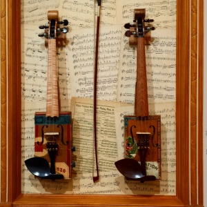 "Instruments by Steve Miller, from the exhibit ""Buncombe Built"" at Asheville Area Arts Council"