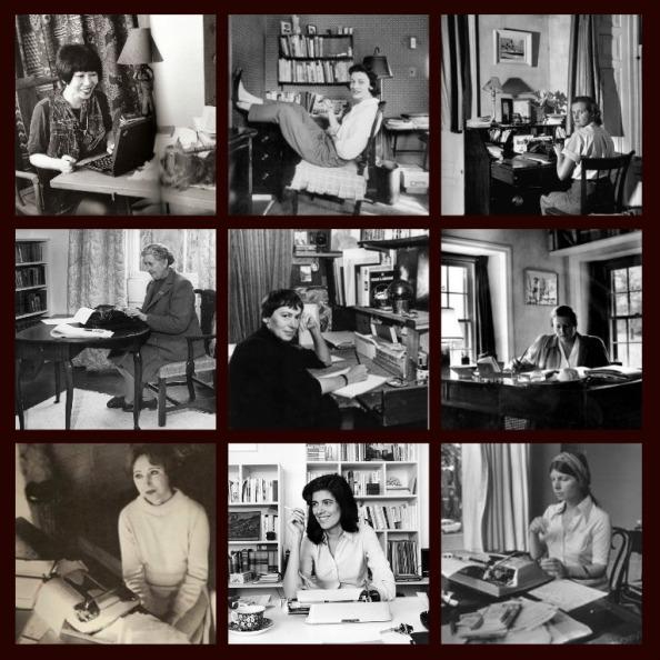 women writers at desks
